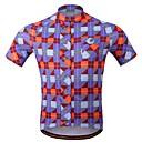 billige Cykeltrøjer og shorts/bukser sæt-WOSAWE Herre Kortærmet Cykeltrøje - Rød / Blå Cykel Trøje, Hurtigtørrende, Åndbart