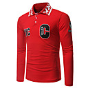 cheap Men's Bracelets-Men's Chinoiserie Plus Size Polo - Floral Geometric Shirt Collar
