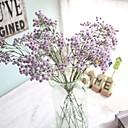 זול אוברולים טריים לתינוקות לבנים-פרחים מלאכותיים 5 ענף כפרי / חתונה גיבסנית פרחים לשולחן