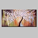 baratos Pinturas Abstratas-Pintura a Óleo Pintados à mão - Abstrato / Floral / Botânico Modern Incluir moldura interna / Lona esticada