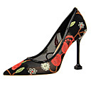 povoljno Ženske cipele s petom-Žene Cipele Čipka Proljeće / Ljeto Udobne cipele / Inovativne cipele Cipele na petu Stiletto potpetica Krakova Toe Crvena / Plava / Badem