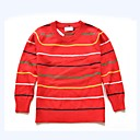 preiswerte Pullover & Strickjacken für Mädchen-Baby Unisex Einfach Alltag / Festtage Gestreift Streife Langarm Standard Baumwolle Pullover & Cardigan Rote