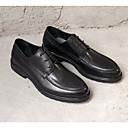 זול נעלי ספורט לגברים-בגדי ריקוד גברים עור אביב / סתיו נוחות נעלי אוקספורד שחור