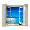 cheap Wall Tapestries-Beach Theme Landscape Wall Decor 100% Polyester Contemporary Modern Wall Art, Wall Tapestries of
