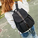 cheap Backpacks-Women's Bags Canvas Backpack Buttons Navy Blue / Brown / Khaki