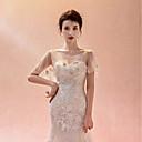 זול עליוניות לחתונה-טול חתונה / מסיבה\אירוע ערב כיסויי גוף לנשים עם אפליקציות / הדפסה / Paillette גלימות