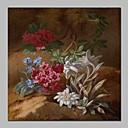 ieftine Picturi în Ulei-Hang-pictate pictură în ulei Pictat manual - Natură moartă Vintage pânză