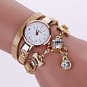 preiswerte Armband-Uhren-Damen Armband-Uhr Quartz Armbanduhren für den Alltag Imitation Diamant PU Band Analog Freizeit Modisch Schwarz / Weiß / Blau - Grün Blau Hellblau Ein Jahr Batterielebensdauer