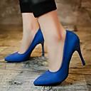 ราคาถูก รองเท้าส้นสูงผู้หญิง-สำหรับผู้หญิง รองเท้า หนังนิ่ม ตก ความสะดวกสบาย รองเท้าส้นสูง วสำหรับเดิน ส้น Stiletto / รองเท้าส้นสูงคริสตัล Pointed Toe กุหลาบแดง / แดง