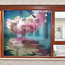 ieftine Acțibilde de Perete-Fereastră de film și autocolante Decor Floral Contemporan Floral PVC Autocolant Geam Mat