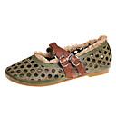 olcso Női alacsony cipők-Női PU Nyár Mokaszin Lapos Lapos Kerek orrú Barna / Zöld / Khakizöld
