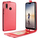 cheap Cell Phone Cases & Screen Protectors-Case For Huawei P20 lite P20 Card Holder Flip Full Body Cases Solid Colored Hard PU Leather for Huawei P20 lite Huawei P20