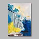 baratos Pinturas a Óleo-Pintura a Óleo Pintados à mão - Abstrato Contemprâneo Tela de pintura