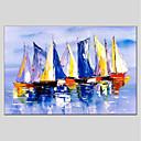 abordables Peintures de Paysages-Peinture à l'huile Hang-peint Peint à la main - Paysage Moderne Inclure cadre intérieur / Toile tendue
