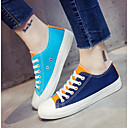preiswerte Damen Turnschuhe-Damen Schuhe Leinwand Frühling / Herbst Komfort Sneakers Niedriger Heel Weiß / Orange / Blau