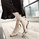 abordables Botas de Mujer-Mujer Zapatos Cuero PVC Verano Confort / Pump Básico Sandalias Tacón Cuadrado Claro
