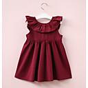 tanie Sukienki dla dziewczynek-Brzdąc Dla dziewczynek Moda miejska Jendolity kolor Plisy Bez rękawów Sukienka