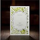 tanie Zaproszenia ślubne-Składanie w Z Zaproszenia ślubne 30 szt. - Zaproszenia / Kartki z podziękowaniami / Karty odpowiedzi Styl artystyczny / Styl kwiatowy Wytłaczany papier