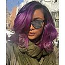 ieftine Peruci Păr Uman-Neprocesat Față din Dantelă Perucă Păr Brazilian Ondulat Perucă Partea laterală 130% Densitatea părului cu păr de păr Păr Ombre Violet Pentru femei Scurt Lungime medie Peruci Păr Uman Aili Young Hair
