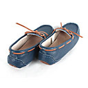 baratos Mocassins Femininos-Mulheres Sapatos Pele Primavera / Outono Conforto Sapatos de Barco Salto Baixo Azul Escuro / Azul Claro