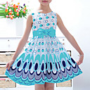 cheap Girls' Shoes-Kids Toddler Girls' Simple Active Sweet Color Block Bow Print Sleeveless Dress