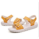 cheap Baby Shoes-Girls' Shoes Cowhide Summer Comfort Sandals for Yellow / Blue / Pink
