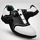 baratos Sapatos para Golf-Homens Sapatos para Golf Vibram Golf, Macio, Automático Pele Preto / Branco