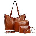 povoljno Komplet torbi-Žene Patent-zatvarač PU Bag Setovi Kompleti za vrećice 4 kom Crn / Braon / Plava / Jesen zima