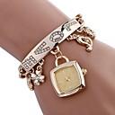 preiswerte Armband Uhr-Damen Uhr Modeuhr Quartz Legierung Silber / Gold Imitation Diamant Analog damas Freizeit Modisch Gold Silber / Ein Jahr / Ein Jahr