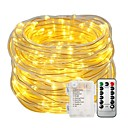 cheap LED String Lights-10m String Lights Light Sets 100LEDs Warm White White Color-changing Waterproof Decorative Batteries Powered 1set