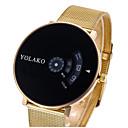 저렴한 파티 헤드피스-여성용 커플용 캐쥬얼 시계 스포츠 시계 패션 시계 석영 실버 / 골드 캐쥬얼 시계 디지털 사치 캐쥬얼 - 골드 / 화이트 블랙 / 실버 화이트 / 실버