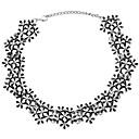 ieftine Colier la Modă-Coliere Choker - Floare Έθνικ, Elegant Încântător Auriu, Argintiu 35 cm Coliere Bijuterii Pentru Nuntă, Serată