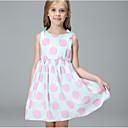 זול שמלות לבנות-שמלה כותנה פוליאסטר קיץ ללא שרוולים יומי חגים מנוקד הילדה של חמוד פעיל ירוק בהיר