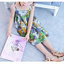זול אוברולים טריים לתינוקות-שמלה שרוולים קצרים אחיד הילדה של פרחוני תלתן