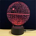 tanie Nowoczesne oświetlenie-3D Nightlight Zmiana USB Przeciwe stresowi i niepokojom / Zmieniająca Kolor / Kreatywne 5 V