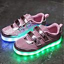 ieftine Pantofi Băieți-Băieți / Fete Pantofi Plasă / Tul Vară Tălpi cu Lumini / Pantofi Usori Adidași LED pentru Auriu / Argintiu / Roz