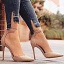 baratos Sapatos de Salto-Mulheres Sapatos Pele Nobuck Primavera / Outono Conforto / Inovador Saltos Salto Agulha Dedo Apontado Presilha Verde / Azul / Amêndoa