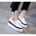 preiswerte Damen Halbschuhe / Oxfords-Damen Schuhe Leder Frühling / Herbst Komfort Loafers & Slip-Ons Creepers Schwarz / Beige