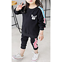 cheap Girls' Shoes-Toddler Girls' Casual / Active Sports Solid Colored / Geometric / Letter Long Sleeve Cotton Clothing Set / Cute