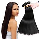 cheap Natural Color Hair Weaves-3 Bundles Peruvian Hair Straight Human Hair Natural Color Hair Weaves / Human Hair Extensions Human Hair Weaves Extention / Hot Sale Natural Color Human Hair Extensions All