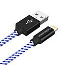 tanie Kable i Ładowarka-Oświetlenie Adapter kabla USB Wysoka prędkość / Szybka opłata Kable Na iPhone 180 cm Na Nylon