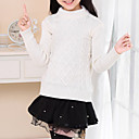 cheap Girls' Dresses-Girls' Daily Going out Solid Colored Sweater & Cardigan, Cotton Spring Fall Winter Long Sleeves Check White Yellow Red Blue Pink