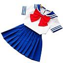 tanie Sukienki dla dziewczynek-Brzdąc Dla dziewczynek Podstawowy Codzienny Solidne kolory Krótki rękaw Regularny Bawełna / Jedwab wiskozowy Komplet odzieży Niebieski