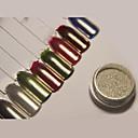 abordables Calcomanías de Uñas-1 / 1pc Brillante Brillante arte de uñas Manicura pedicura Efecto espejo / Nail Glitter Boda / Evento / Fiesta