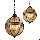 olcso Mini-stílusú függőfények-Ecolight™ 3-Light Gömb Függőlámpák Háttérfény Anódozott Fém Üveg 110-120 V / 220-240 V Az izzó nem tartozék
