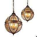 cheap Ceiling Lights-Ecolight™ 3-Light Globe Pendant Light Ambient Light Anodized Metal Glass 110-120V / 220-240V Bulb Not Included