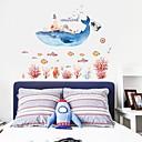 billige Veggklistremerker-Dekorative Mur Klistermærker - Animal Wall Stickers Dyr Stue Soverom Baderom Kjøkken Spisestue Leserom / Kontor