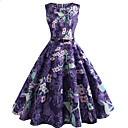 cheap Rings-Women's Vintage Sheath Dress - Floral