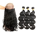 זול תוספות שיער בגוון טבעי-שיער ברזיאלי גלי שיער אנושי שיער Weft עם סגירה שחור שוזרת שיער אנושי איכות מעולה / הגעה חדשה תוספות שיער אדם בגדי ריקוד נשים