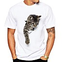cheap Binoculars, Monoculars & Telescopes-Men's Cute Street chic T-shirt - Animal, Print